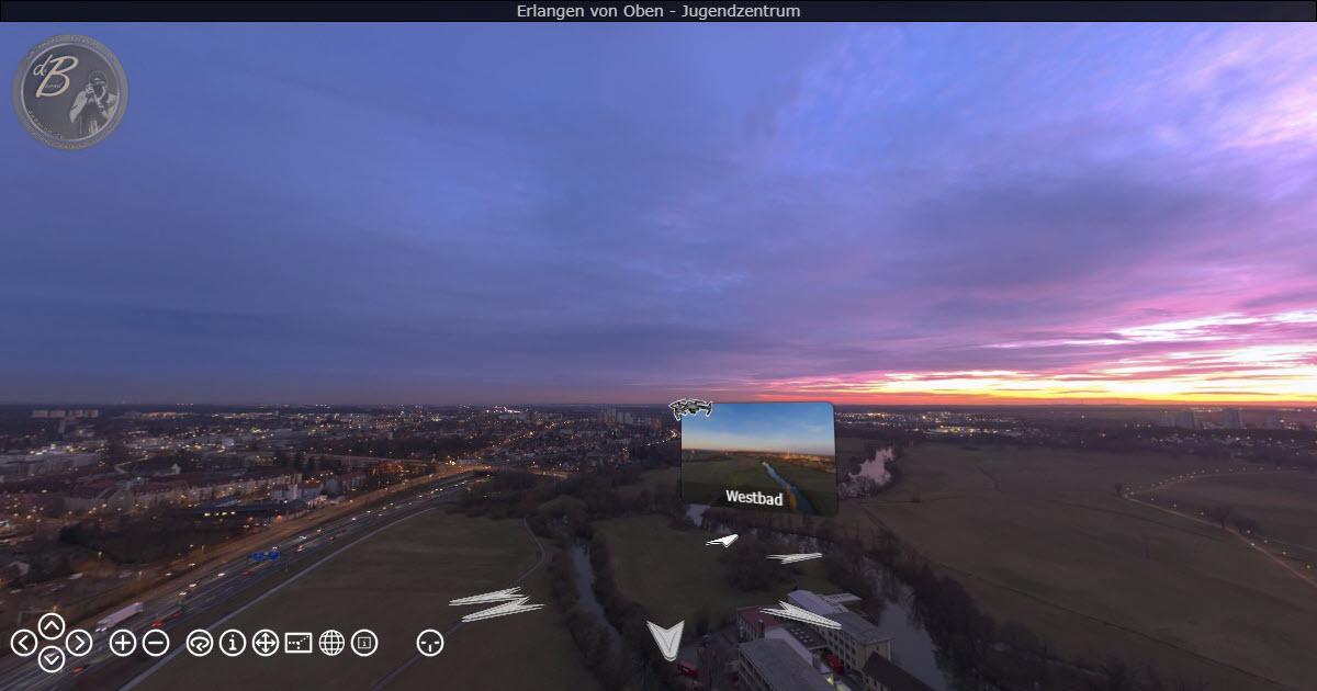 Erlangen von Oben - eine Panorama-Ansicht